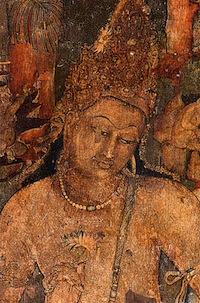 Ajanta Padmapani, vers 470, fresque, Ajanta