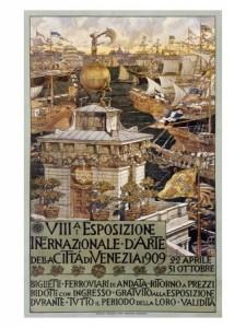 Augusto Sezanne, affiche de la 8e exposition internationale de Venise, 1909