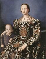 Bronzino, Eléonore de Tolède et son fils, vers 1545, Florence, Offices