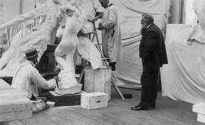 Frances Benjamin Johnston, Auguste Rodin dans son atelier en 1905