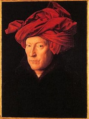 Jan van Eyck, L'Homme au turban rouge, 1433, Londres NG