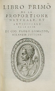 Lomazzo, Trattato dell'arte della pittura, Milano, 1584, Livre I