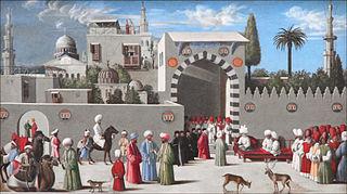 Anonyme vénitien, Délégation vénitienne à Damas, XVe siècle, Paris, Louvre