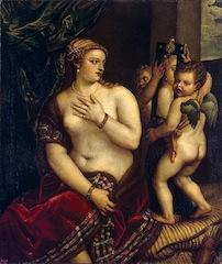 Ecole de Titien, Vénus au miroir, vers 1560, musée de l'Ermitage