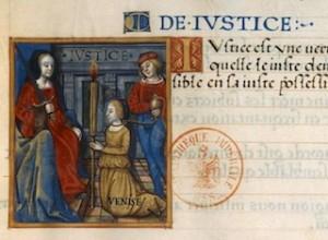 F. de Rochefort, Traités des Vertus Cardinales, Venise agenouillée devant-Justice