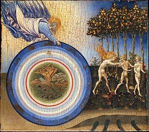 Giovanni di Paolo, La Création et l'Expulsion du Paradis (détail), 1445, New York, Metropolitan