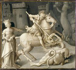Grégoire Ghérard (?), Saint Georges et le dragon, vers 1550, Ecouen