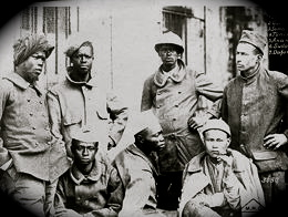 Anonyme, photographie des troupes coloniales