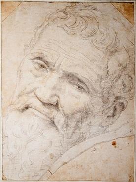 Daniele da Volterra, Portrait de Michel-Ange, dessin