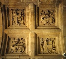 Emblèmes de François 1er, plafond à Caisson du château de Chambord
