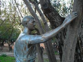 Michelangelo Pistoletto, Accarezzare gli alberi, 1976, installation