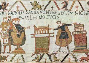 Tapisserie Bayeux serment sur reliques b