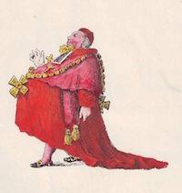 Caricature anonyme d'un religieux