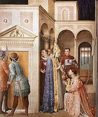 Fra Angelico, Saint Laurent reçoit les dons de l'Eglise, Vatican