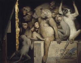 Gabriel_Cornelius_von_Max, Les Singes critiques d'art, 1889