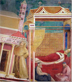 Giotto, Le Songe d'Innocent III, fresque, Basilique d'Assise
