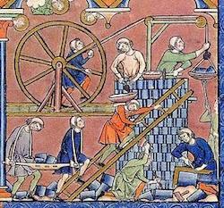 Les batisseurs de Babel, Bible de Macejowski, 1250
