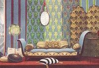 Louis Süe, mobilier, étoffes et papiers peints édités par « L'Atelier français », Salon d'Automne de 1913, reproduits dans « Art et décoration », 1914.