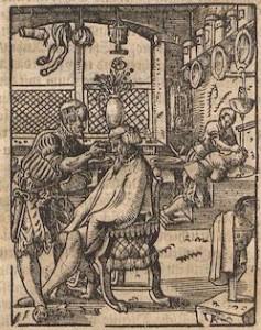 Tommaso Garzoni, Le Barbier, 1641, gravure sur bois