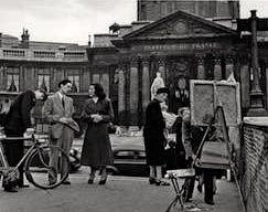 DOISNEAU, Le-peintre-de-l-Institut, Paris, 1950