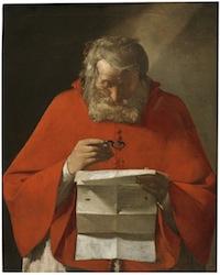 Georges de La Tour, Saint Jerome lisant, Madrid