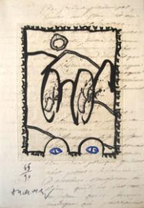 Livre illustré par Pierre Alechinsky, texte de Pierre Mabille, 1992