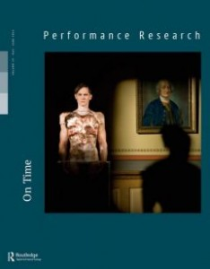Performance Research, vol. 19, 2014, n°3 (couverture