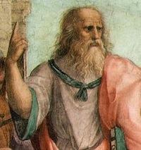 Raphaël, Ecole d'Athènes, détail (Leonard en Platon), Vatican