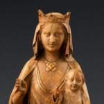 Vierge à l'enfant, 1240-50, ivoire, Paris, Cluny