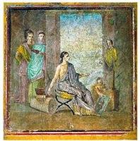 La femme peintre, fresque de Pompéi, vers 50, Naples, Museo Archeologico Nazionale di Napoli