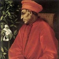 Pontormo , Cosimo il Vecchio, 1520 Huile sur toile 86 x 65 cm Florence, Musée des Offices