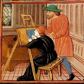 Enluminure de Aristote, Politique, Éthique et Économique, France, XVe siècle Paris, BnF