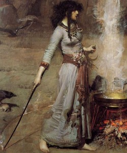 detail John_William_Waterhouse_-_Magic_Circle