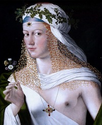 Bartolomeo Veneto ?, Portrait d'une courtisane