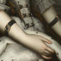 Détail d'un tableau du XVIIe siècle