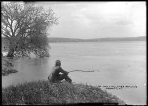Fishing on the Smoky Hill River South of Dorrance, May 4, 1912, Russell County, Kansas (Plate 323)
