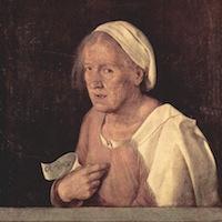 Giorgione, La Vieille, Venise, Accademia