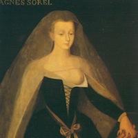 Ecole de Jean Fouquet, Portrait d'Agnès Sorel, début du XVe siècle