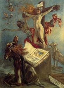 Félicien Rops, La Tentation de Saint-Antoine, 1878 (pastel de la série Les Sataniques, Bibliothèque royale de Belgique)