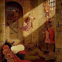 Moritz von Schwind, Le rêve du prisonnier, 1836- 2