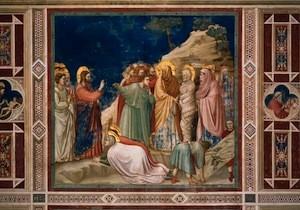 Giotto, La Résurrection de Lazare, 1304-06, Padoue, Chapelle Scrovegni
