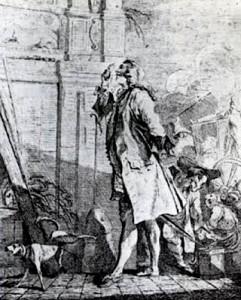 La Font de Saint-Yenne examinant la Fontaine des Innocents, 1753 ?, Paris, Bnf