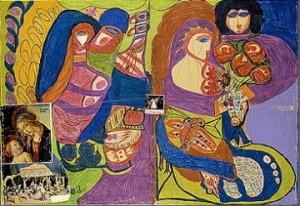 Aloïse Corbaz, Nativité, 1955