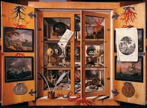 Domenico Remps, Cabinet de curiosité, vers 1690, Florence, Musée de l'office de la pierre dure