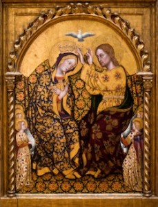 Gentile da Fabriano, Couronnement de la Vierge, 1420, Los Angeles, Getty