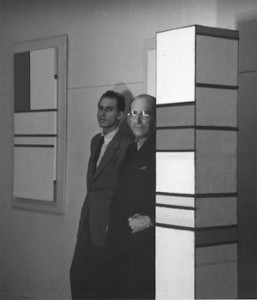 Harry Holtzman et Piet Mondrian, Atelier d'Holtzman, New York City, 1941