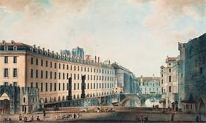 Vue de l'Hotel Dieu au XIXe siècle