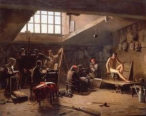 Antoine Jean Bail, L'atelier de dessin à l'Ecole des Beaux-Arts, 1855