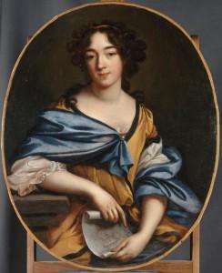 Elisabeth-Sophie Chéron, Autoportrait de l'artiste, XVIIe-XVIIIe siècle, huile sur toile, 88 x 73 cm, Paris, musée du Louvre