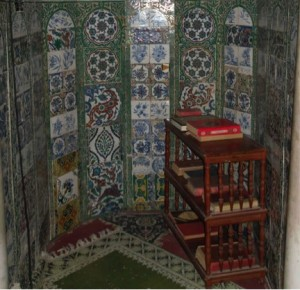 Fig. 3. Intérieur du mihrab du mausolée d'Idris II, Fès, Maroc, cliché de l'auteur.